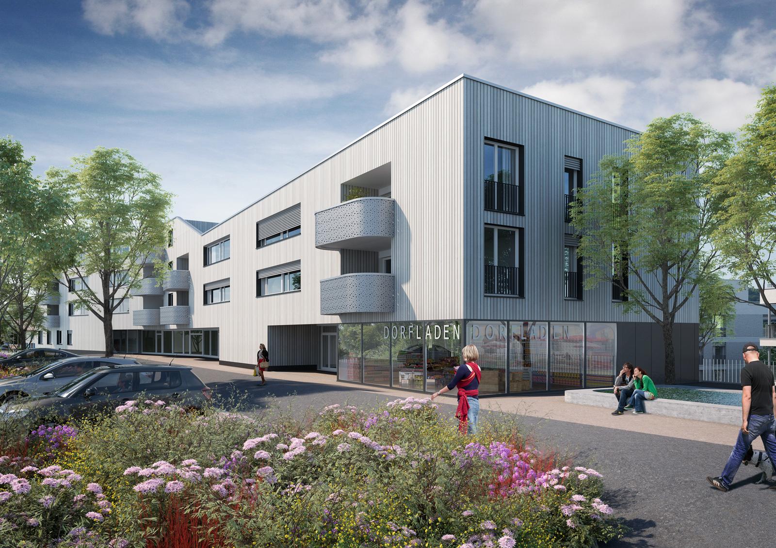 Erstvermietung: moderne Wohnung im Dorfzentrum